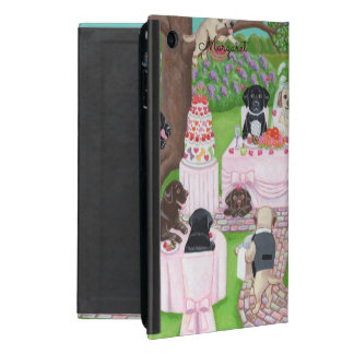 Personalisiertes Labrador-Hochzeit ipad Minifall Etui Fürs iPad Mini