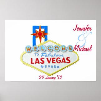 Personalisiertes Las Vegas Gedenk Poster