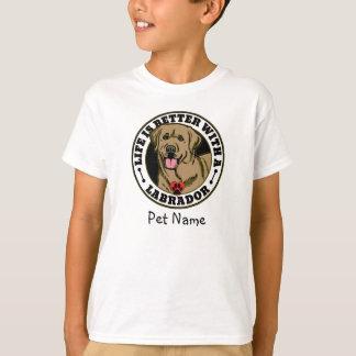 Personalisiertes Leben ist mit einem TAN Labrador T-Shirt