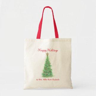 Personalisiertes Lehrer Weihnachten Tragetasche