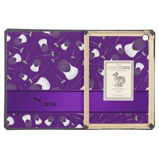 Personalisiertes lila fechtendes Namensmuster