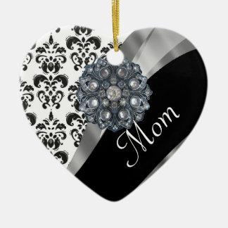 Personalisiertes Mammadamastmuster Keramik Ornament