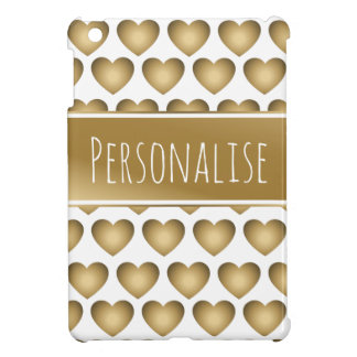 personalisiertes metallisches Goldherzen ipad Hülle Für iPad Mini