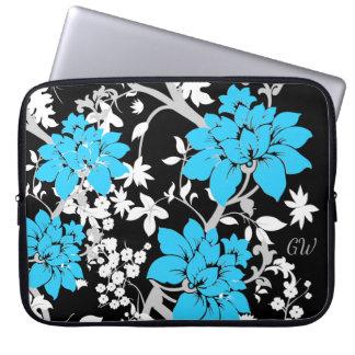 Personalisiertes modernes Blumen Laptopschutzhülle