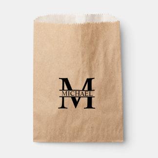 Personalisiertes Monogramm und Name Geschenktütchen