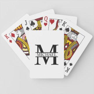 Personalisiertes Monogramm und Name Spielkarten