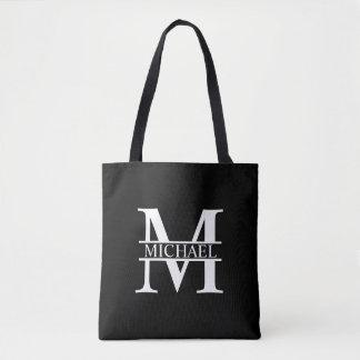 Personalisiertes Monogramm und Name Tasche