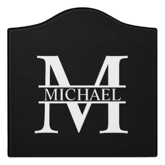 Personalisiertes Monogramm und Name Türschild