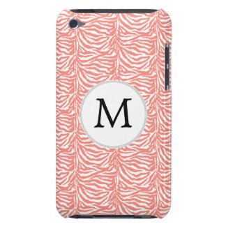 Personalisiertes Monogrammkorallenrote Case-Mate iPod Touch Hülle