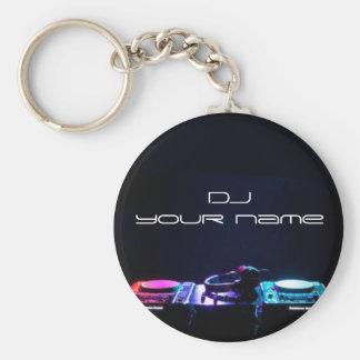 Personalisiertes Namen-DJ keychain Standard Runder Schlüsselanhänger