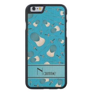 Personalisiertes Namenshimmelblau, das Muster Carved® iPhone 6 Hülle Ahorn