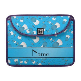 Personalisiertes Namenshimmelblau, das Muster Sleeves Für MacBook Pro