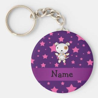 Personalisiertes Namenshunderosa hat Lila in der H Schlüsselband