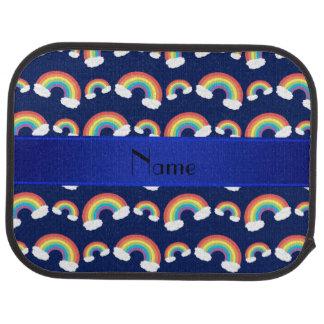 Personalisiertes Namensmarineblau-Regenbogenmuster Automatte