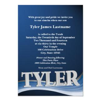 Personalisiertes NamensTyler Bar Mitzvah Karte