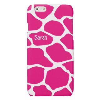 Personalisiertes niedliches rosa Giraffen-Muster