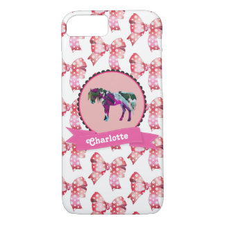 Personalisiertes niedliches rosa modernes Pony iPhone 8/7 Hülle