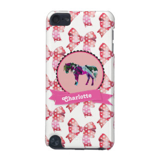 Personalisiertes niedliches rosa modernes Pony iPod Touch 5G Hülle