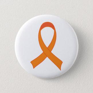 Personalisiertes orange Band-Bewusstseins-Geschenk Runder Button 5,1 Cm