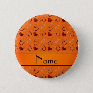 Personalisiertes orange runder button 5,1 cm