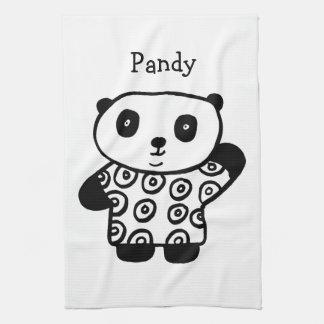 Personalisiertes Pandy der Panda Handtuch