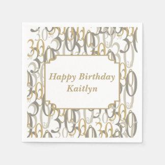 Personalisiertes Party des Geburtstags-große 30 Servietten