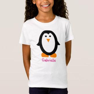 Personalisiertes Penguin-Shirt für Mädchen T-Shirt