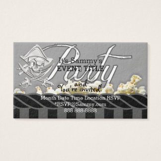 Personalisiertes Piraten-Party Visitenkarten