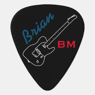 personalisiertes Plektrum für das guitarman