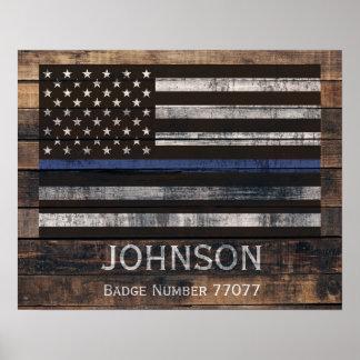 Personalisiertes Polizei-Plakat Poster