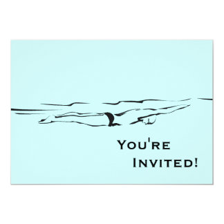 Personalisiertes Pool-Party des Schwimmer-| Karte