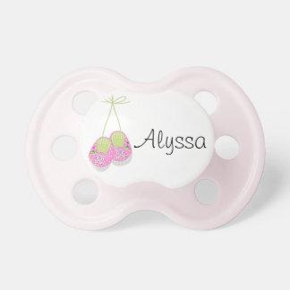 Personalisiertes Posh Rosa beschuht Baby-Schnuller Schnuller