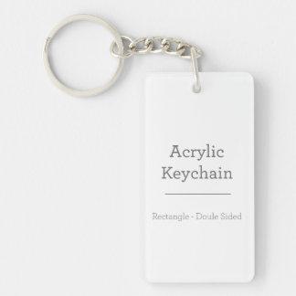 Personalisiertes rechteckiges Keychain Beidseitiger Rechteckiger Acryl Schlüsselanhänger