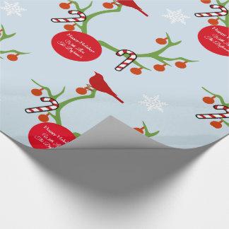 Personalisiertes Ren-Geweih-Weihnachten Geschenkpapier