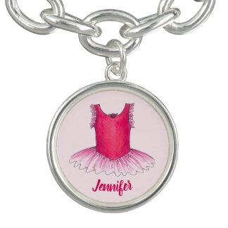 Personalisiertes rosa charm armband