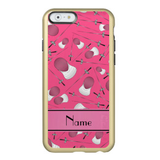 Personalisiertes rosa fechtendes Namensmuster Incipio Feather® Shine iPhone 6 Hülle