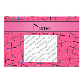 Personalisiertes rosa Feldhockeynamensmuster