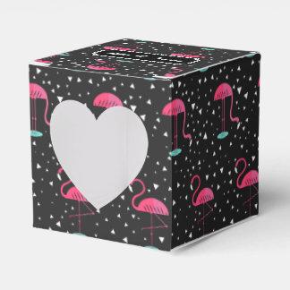 Personalisiertes rosa Flamingo-Namensmuster Geschenkkartons