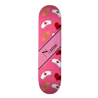 Personalisiertes rosa Krankenschwesternamensmuster Personalisierte Skatedecks