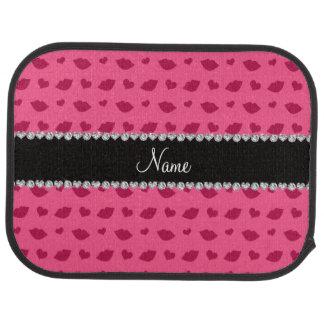 Personalisiertes rosa Lippen- und Herznamensmuster Automatte