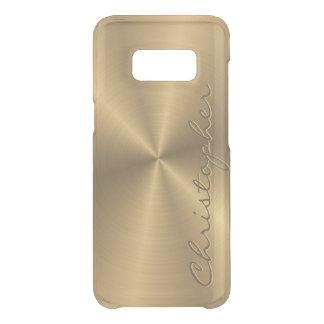 Personalisiertes rostfreier Stahl-Goldmetallischer Get Uncommon Samsung Galaxy S8 Hülle