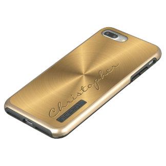 Personalisiertes rostfreier Stahl-Goldmetallischer Incipio DualPro Shine iPhone 8 Plus/7 Plus Hülle