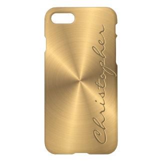 Personalisiertes rostfreier Stahl-Goldmetallischer iPhone 8/7 Hülle