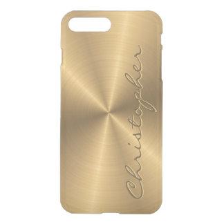 Personalisiertes rostfreier Stahl-Goldmetallischer iPhone 8 Plus/7 Plus Hülle