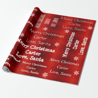 Personalisiertes Sankt-Weihnachten Geschenkpapier