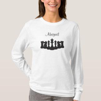 Personalisiertes Schach-langes Hülsen-Shirt für T-Shirt