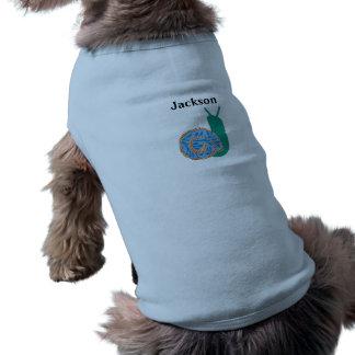 Personalisiertes Schnecke-Hündchen-gewellte Shirt