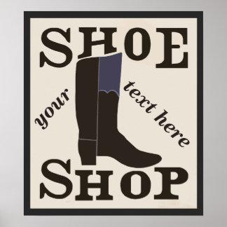 Personalisiertes Schuh-Geschäft Poster