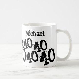 Personalisiertes Schwarz-40. Kaffeetasse