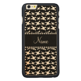 Personalisiertes Schwarz-weißes Carved® Maple iPhone 6 Plus Hülle
